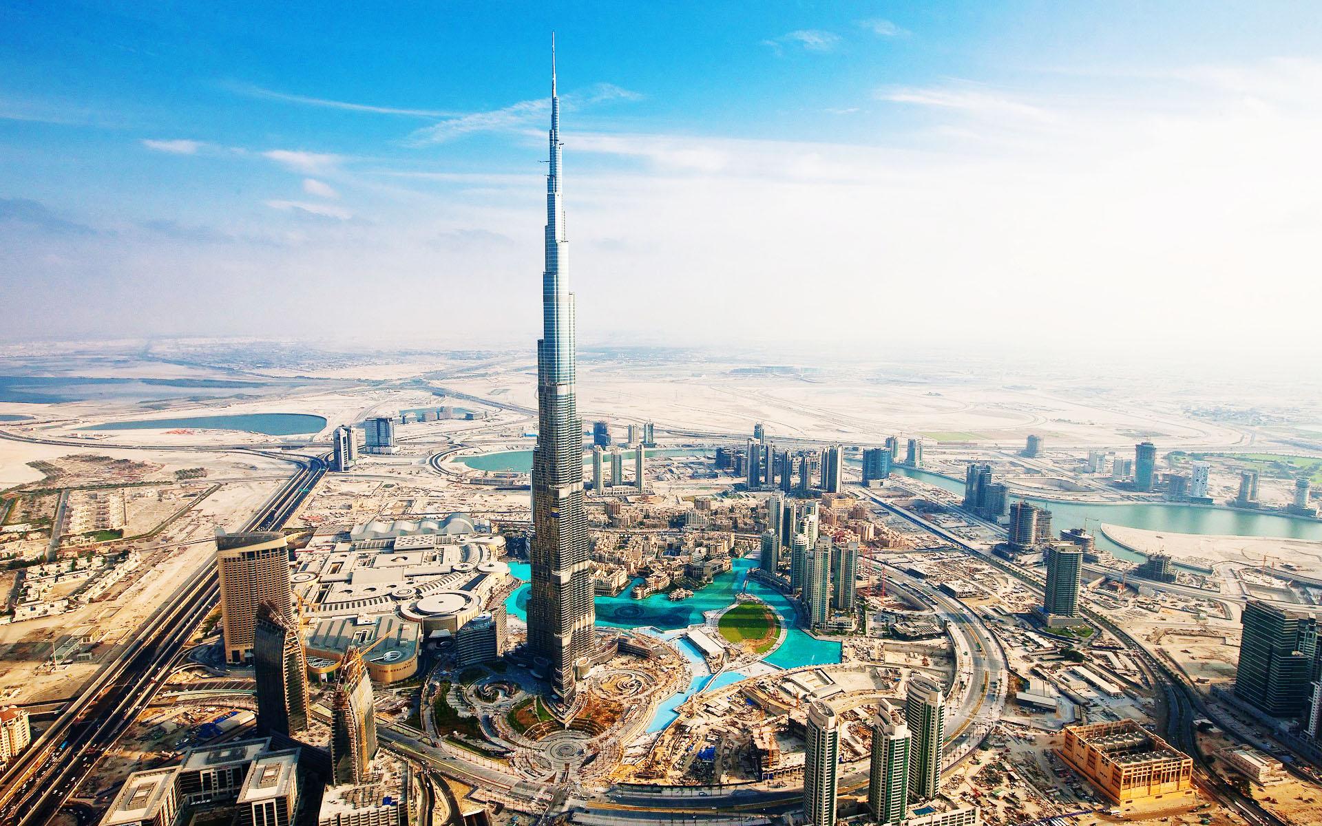 Dubai with the iconic Burj Khalifa