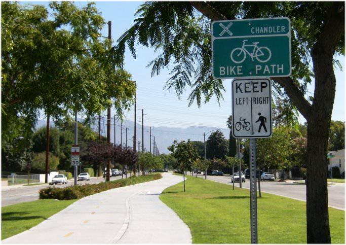The Chandler Bikeway via labikepaths.com