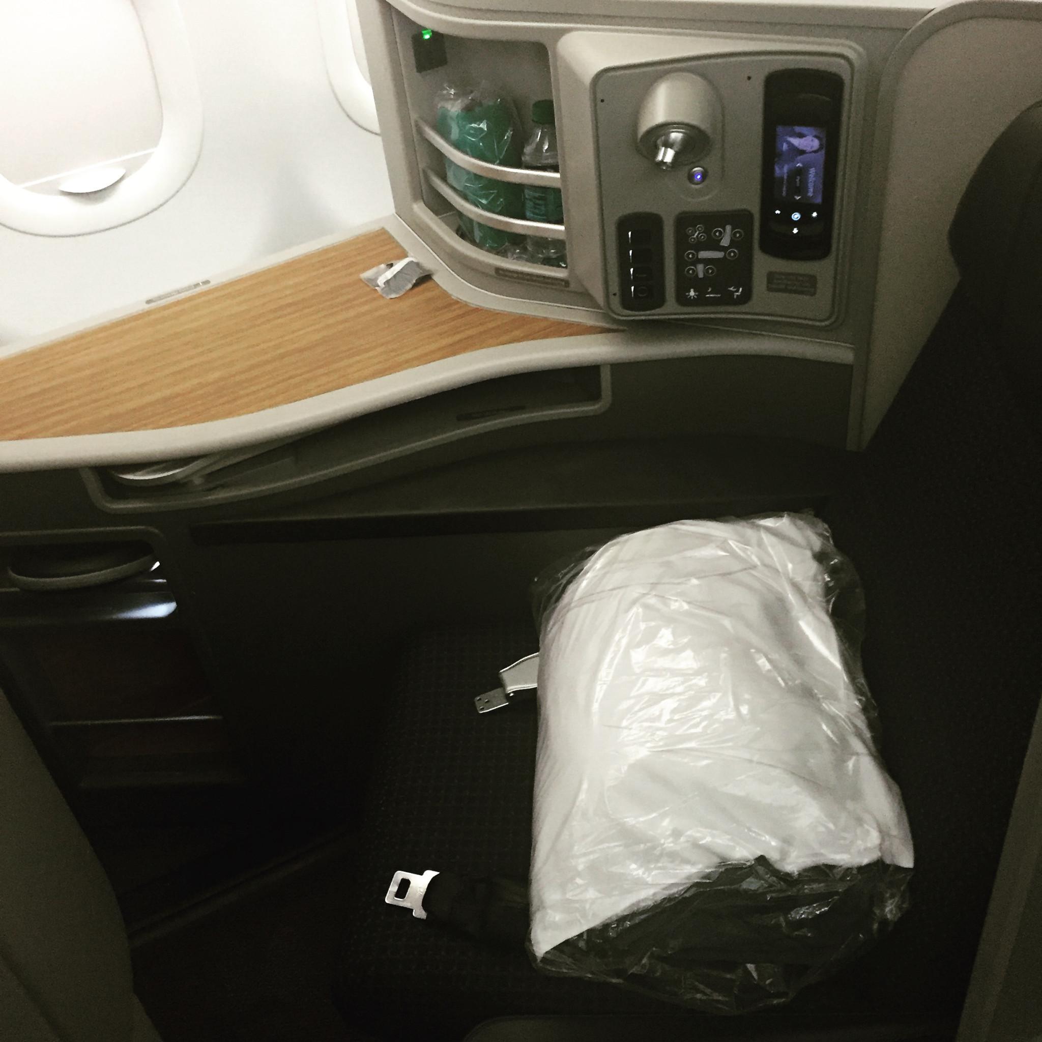 My seat 1F